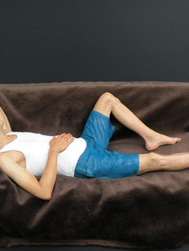Man on Couch by Jesse Rubin | Sculptor
