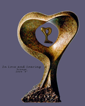 In Love and Soaring by Lee Gass | Sculptor