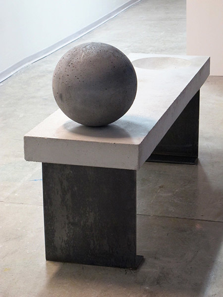 Concrete Bench by Linda Schmidt, Sculptor