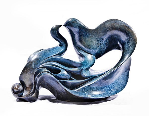 Birds Kissing by Parvaneh Roudgar | Sculptor