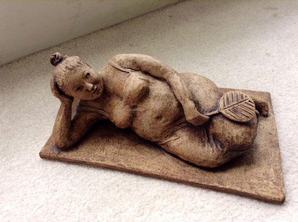 La Gorda Coqueta by Sylvia Escobedo, Sculptor