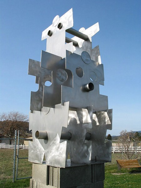 Puzzle Piece Variations by Geert Maas, Sculptor
