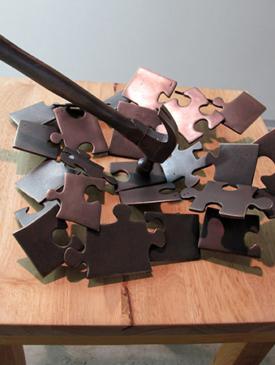 It's a Puzzle by Linda Schmidt, Sculptor