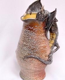 Jaberwocky Jug by Sharon Reay, Sculptor