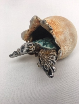 Turtle in Egg by Sharon Reay, Sculptor