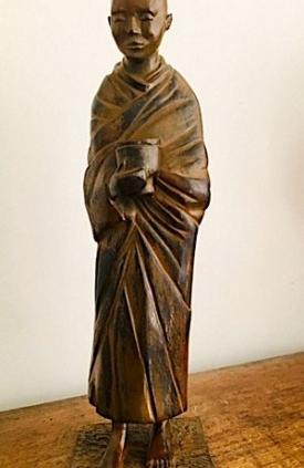 Buddhist Monk by Sylvia Escobedo, Sculptor