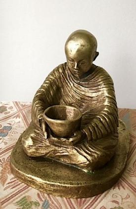 Young Monk by Sylvia Escobedo, sculptor