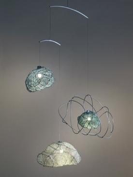 3 Sketchy Clouds by Claudine Gévry, Sculptor