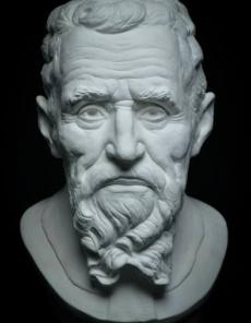 Portrait by Michelangelo by Judit Szilvasi